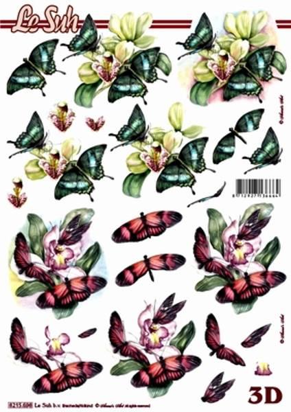 3D ark - sommerfugler 2