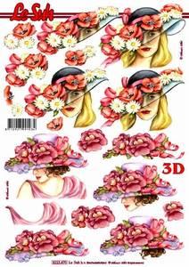 Bilde av 3D ark - Damer med hatter og