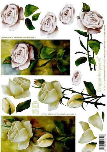 3D ark -Rose med stilk