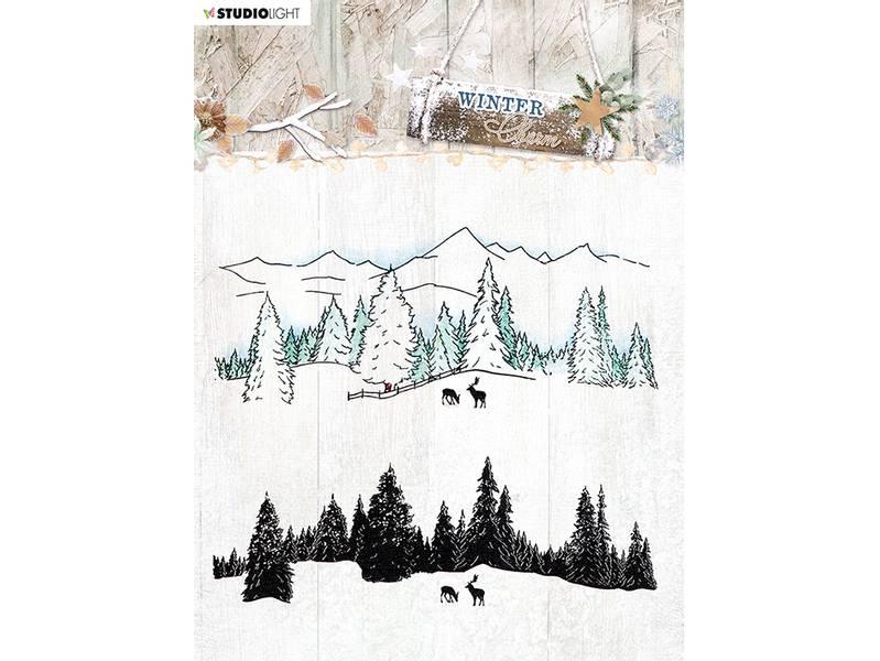 Studio Light Stamp 14x14cm – Winter Charm 492